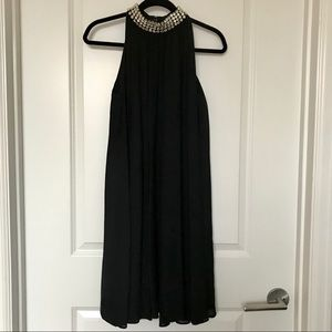 KATE SPADE Black Dress w/ crystal rhinestone neck